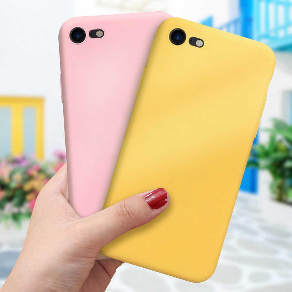 Thời Trang Kẹo Dẻo Silicone ICase Color Dành Cho iPhone XS Max XS XR X 7 8 Plus 11Pro 6 6S 5 5S Cặp Đôi Điện Thoại Cho Iphone 11 11Pro Max
