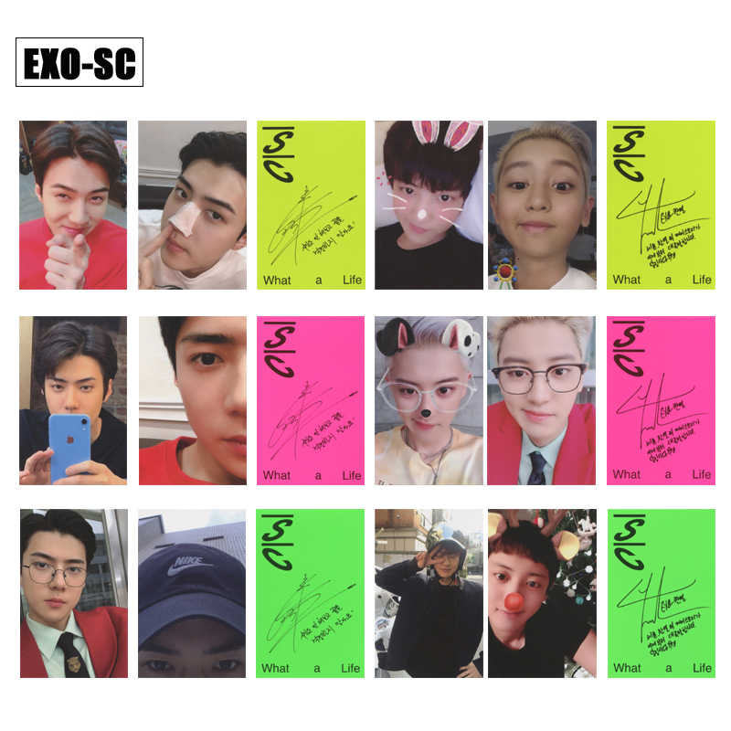 Kpop Exo Sc Sehun Chanyeol What A Life Album Photo Card Cards Autograph Photocard Jewelry Findings Components Aliexpress