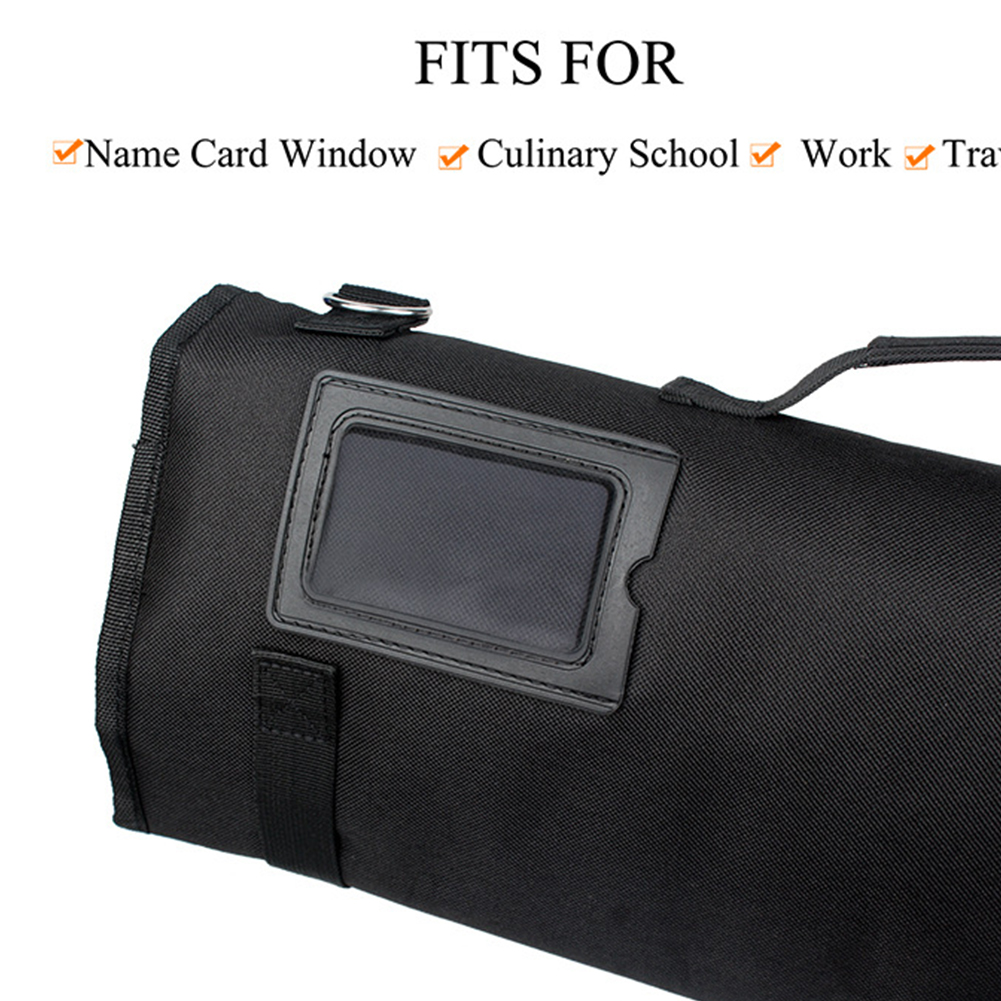 Large Capacity Pack Cooking Chef Knife Bag Roll Storage Strap Portable Kitchen Multifunctional 8 Pocket Slots Oxford Cloth