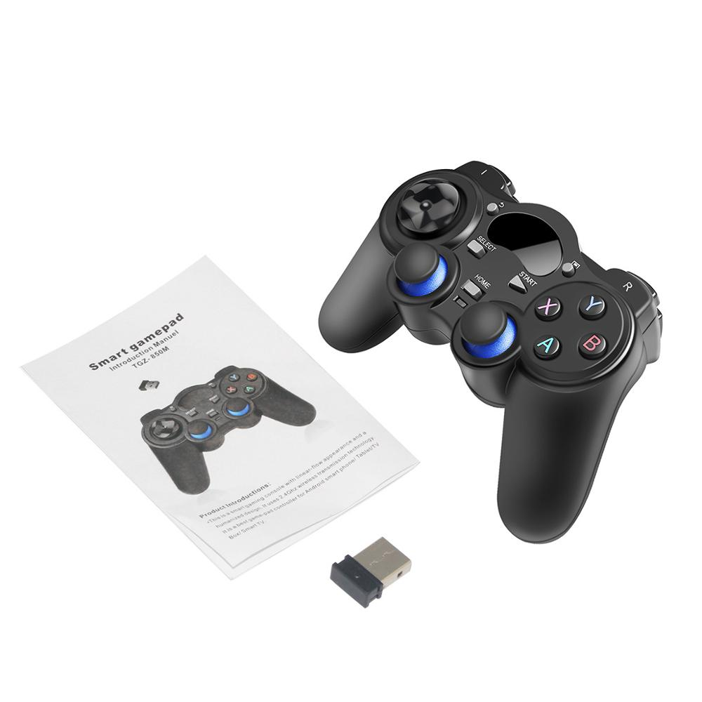 Купить с кэшбэком 2.4G USB Wireless Gaming Controller Gamepad for PC/Laptop Computer(Windows XP/7/8/10) & PS3 & Android & Steam