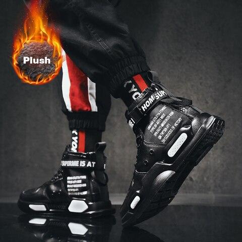 Super popular winter plush sneakers man sport shoes high top warm shoes men outdoor skateboarding shoes male footwear plus 39-45 Pakistan