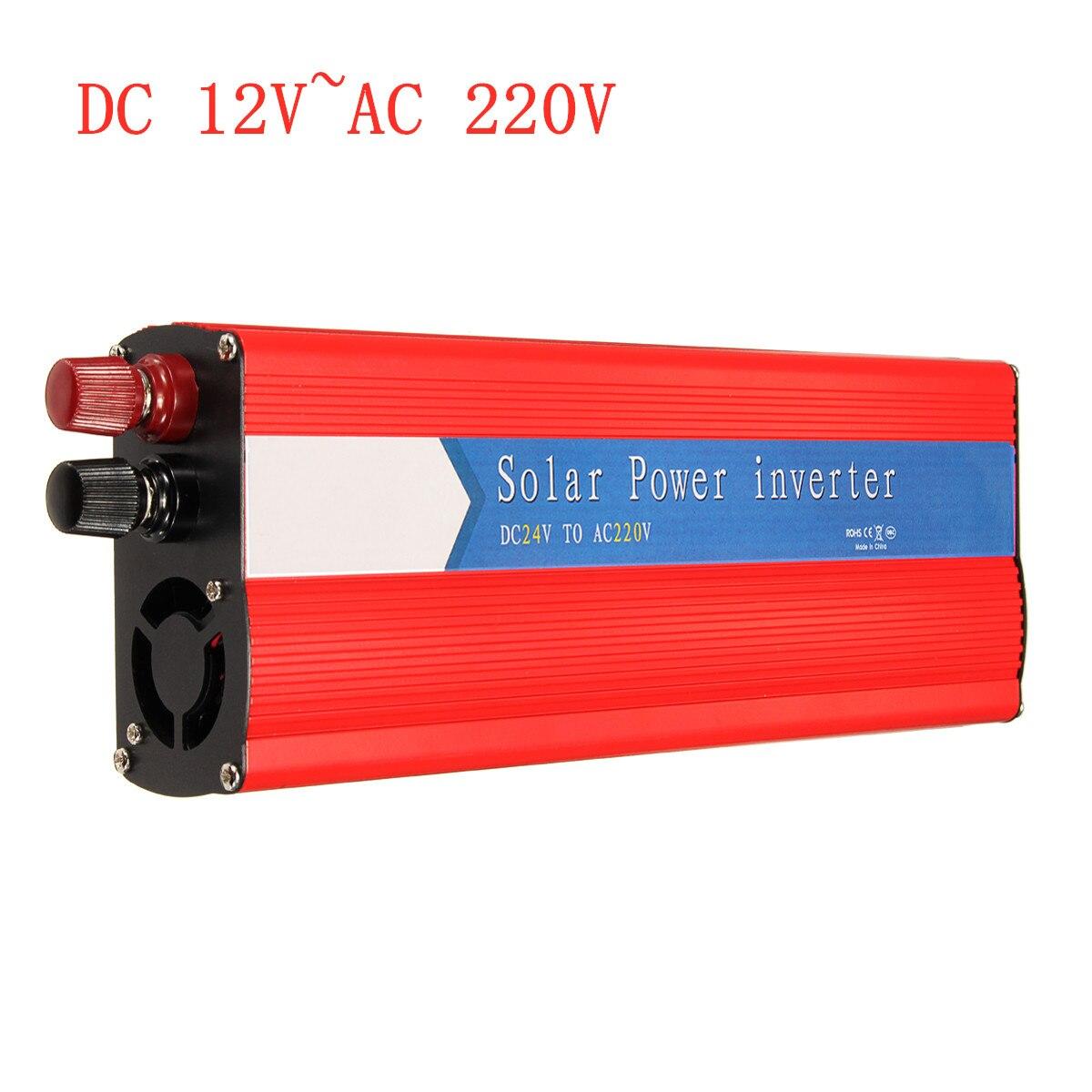 3000W onduleur transformateur onde sinusoïdale alimentations 12 à AC 220 USB tension solaire onduleur convertisseurs intelligents