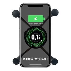 Image 4 - Yeni 12V Scooter ATV motosiklet telefon QC3.0 USB Qi hızlı şarj kablosuz şarj braketi tutucu için Tablet telefon