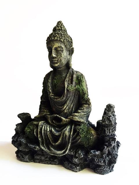 Antique Buddha & Lighthouse Statue Aquarium Set  4