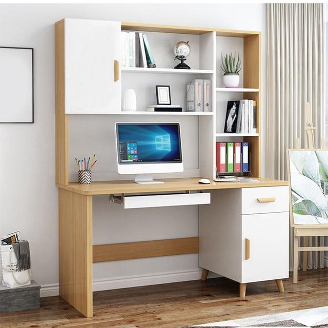 Computer Desk Bookcase Combination  1