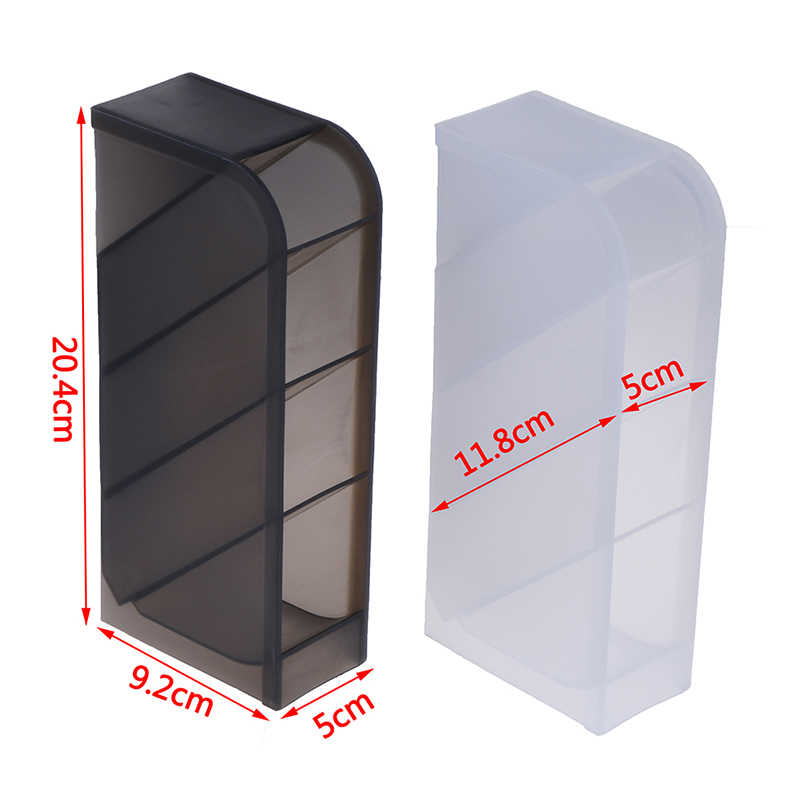 1pc Multifunction Desktop Pen Holder 4 Grids Storage Case For Pen Makeup Brush Pen Pencil Office School Desk Organizer