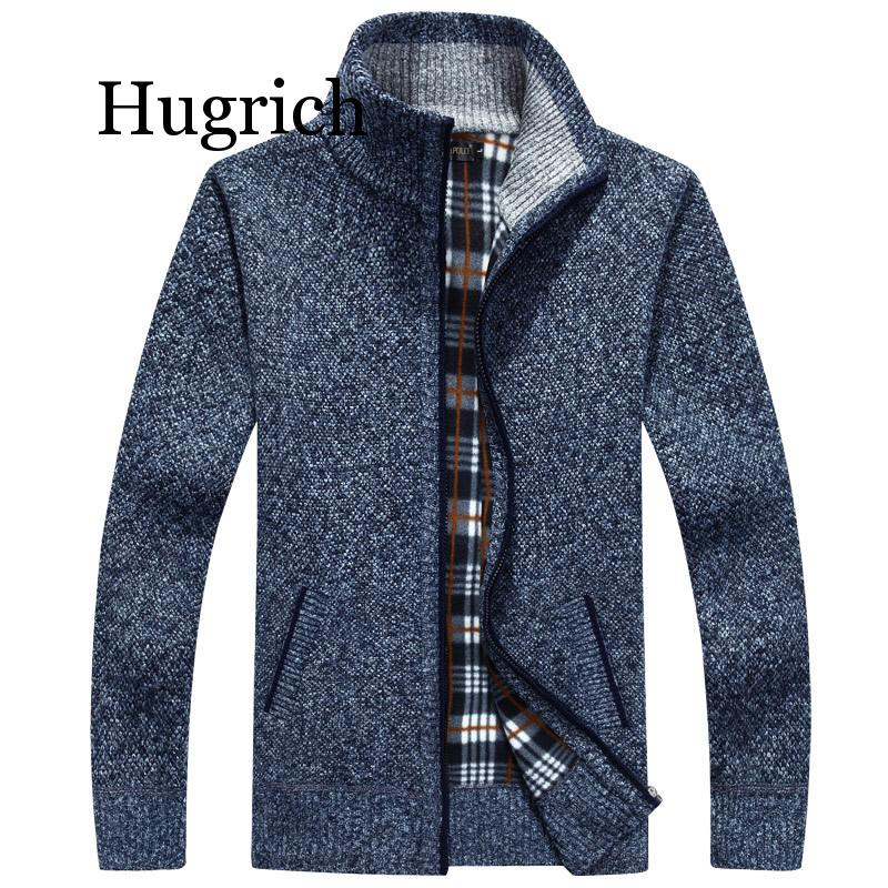 2020 Men's jacket Autumn Winter Warm Cashmere Wool Zipper jackets Pullover Man Casual Knitwear Sweaters coat Plus Size M-4XL