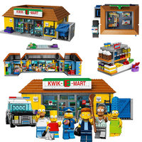 The Simpson Home Series The Kwik E Mart Compatible 71016 Construction 16004 Building Block Brick children Christmas toys Gift