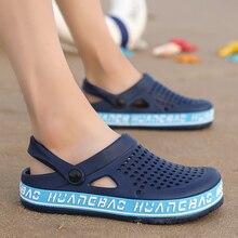 2020 New Hole Shoes Male Mens Shoes Crocse Sandals Sandalias Summer Shoes Sandalen Slippers Sandalet