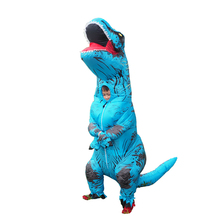 Inflatable Dinosaur T REX Costumes for Kids Blowup Carnival Halloween Mascot Dino Cosplay Costume Party