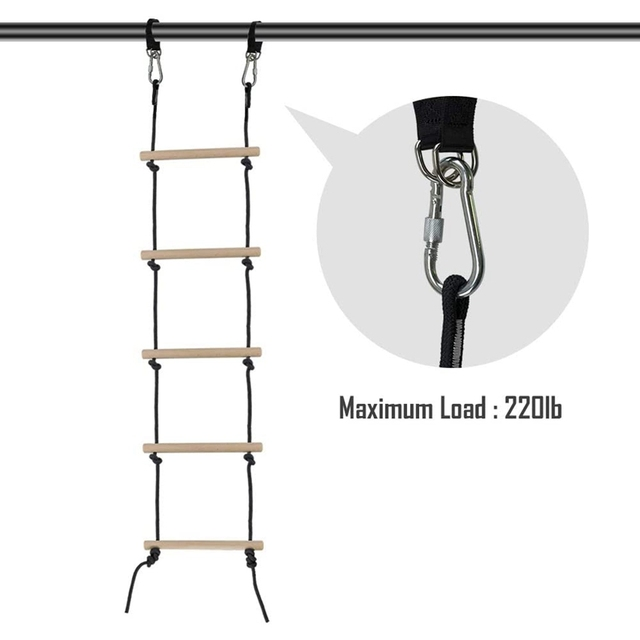 5.2FT Rope Ladder for Tree House 5