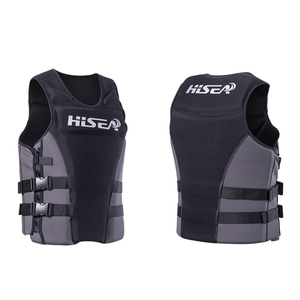 Hisea Neoprene Profession Life Vest Men Women Life Jacket Buoyancy Lifejacket Drifting Surfing Life Vest Swimming Floating Cloth