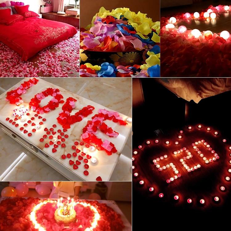 BGW 2013ht 2020 New 100pcs Silk Rose Petals Flower Leaves Petals Wedding Supplies Favor Party Decorations