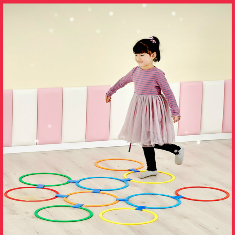 Hopscotch Rings Early Childhood Training Equipment Outdoor Sports Brain Game Sport Toys Hopscotch Hoops Sensory Integration
