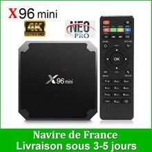 Autêntico neotv pro x96 mini smart tv android 9.0 caixa de armazém francês s905 quad core 8g 16g hd completo neo tv pro 2 conjunto caixa superior