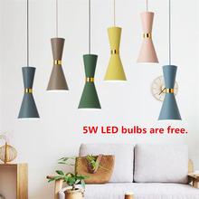 Разноцветные подвесные светильники e27 в скандинавском стиле