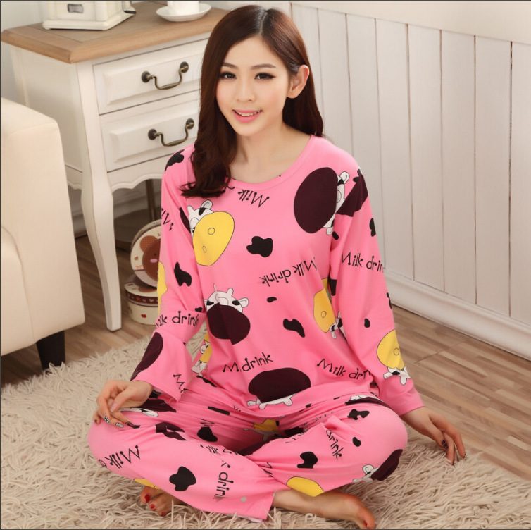 New Style Spring And Autumn Women's Long Sleeve Pajamas Multi--Cartoon KT Cat Qmilch Trousers Pajamas Homewear Set Hot Selling