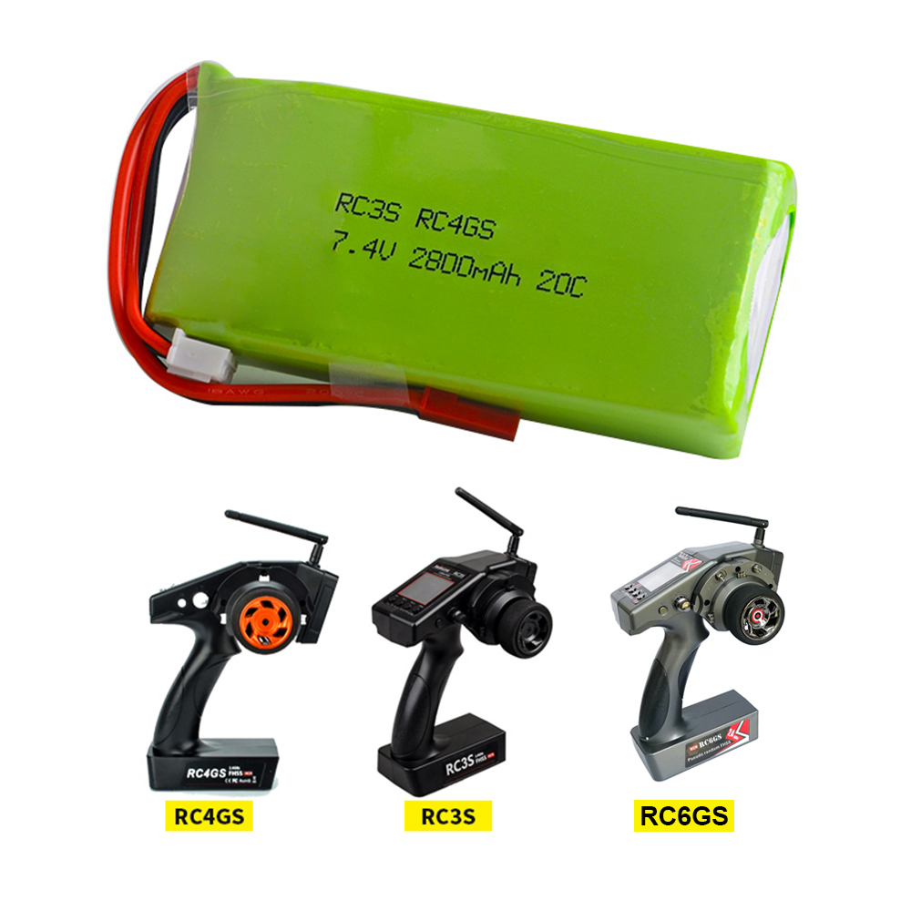 <font><b>2S</b></font> 7.4V <font><b>2800mAh</b></font> 20C <font><b>Lipo</b></font> Battery RC Transmitter Battery for RADIOLINK RC3S RC4GS RC6GS Remote Controller image