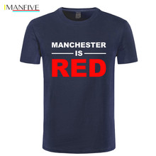 IMANFIVE Summer Style United Kingdom Red Letter Printed T Shirts Men Cotton Manchester Top Tees Male T-Shirts Camisa Masculina