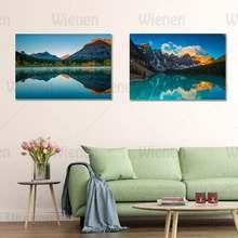 Пейзаж hd изображение стены искусства горный озеро Каньон декор