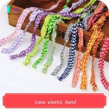 Ширина 1 см цветная плиссированная полосатая кружевная эластичная лента для одежды юбка украшение для волос аксессуары ручной работы эластичная лента s A0453F