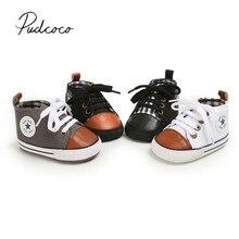 Детские первые ходунки для новорожденных, Детские парусиновые на мягкой подошве, обувь для маленьких мальчиков и девочек, кроссовки