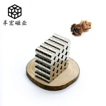 D4 * 3 circular small magnetic core electroplating magnet small magnetic column 4 × 3 high grade wooden box strong magnetism image