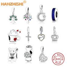 2021 Зимняя коллекция 925 серебряный крест дерева crown Очаровательные