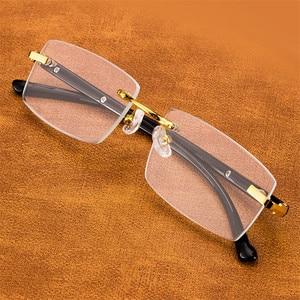 Image 4 - Vazrobe Reading Glasses Men Glass Lens Anti Scratch Diopter Sunglasses Man Rimless Crystal Anti Eye Dry Eyewear