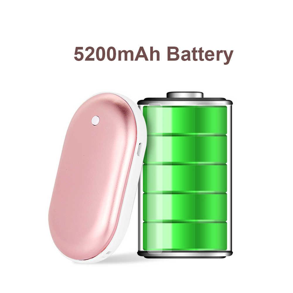 Isi Ulang 5200 M Ah Hangat Listrik Mini USB Tangan Pemanas Telepon Power Bank Saku Hangat Cepat Pengisian Portable Powerbank
