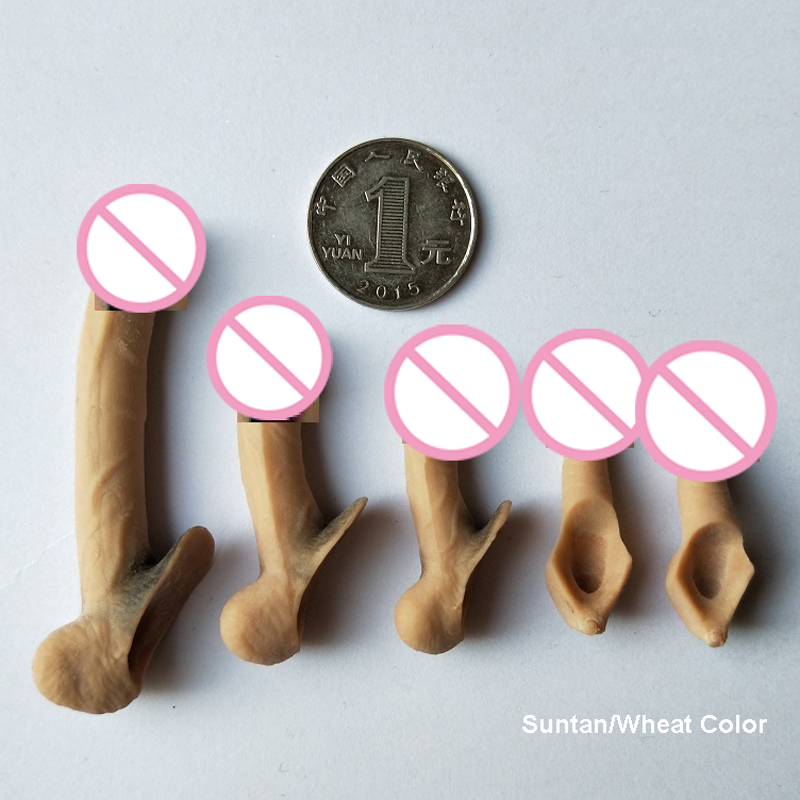<font><b>1/6</b></font> <font><b>Scale</b></font> Accessories Male Genital Parts Silicone Penis Model for 12 Inches Jiaou Doll Tbleague <font><b>Action</b></font> <font><b>Figure</b></font> image