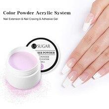 Акриловая пудра UR SUGAR 20 г, Кристальный полимерный дизайн ногтей, искусственные накладные ногти, дизайн ногтей, розовый, белый полимерные инструменты для ногтей