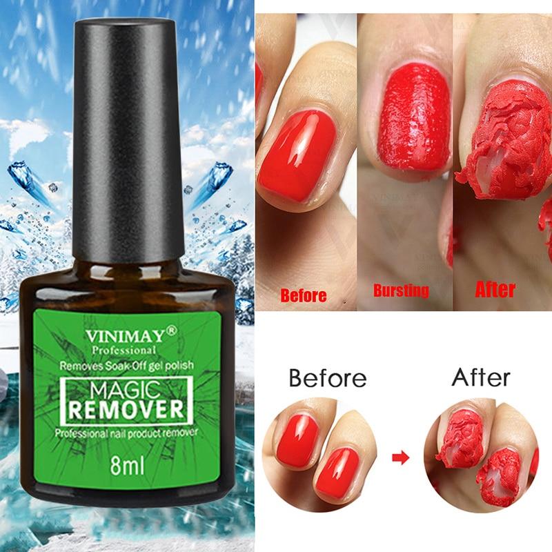 8ML Nail Gel Polish Burst Magic Remover Soak Off UV LED Nail Polish Cleaner Magic Remover Nail Art Primer Lacquer Nail Art TSLM2