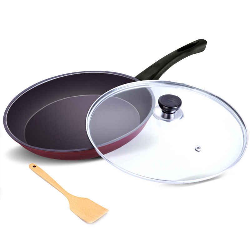 26cm poêle anti-adhésif Maifan pierre sans huile fumée poêle à Induction cuisinière à gaz universel Omelette casserole poêle Wok