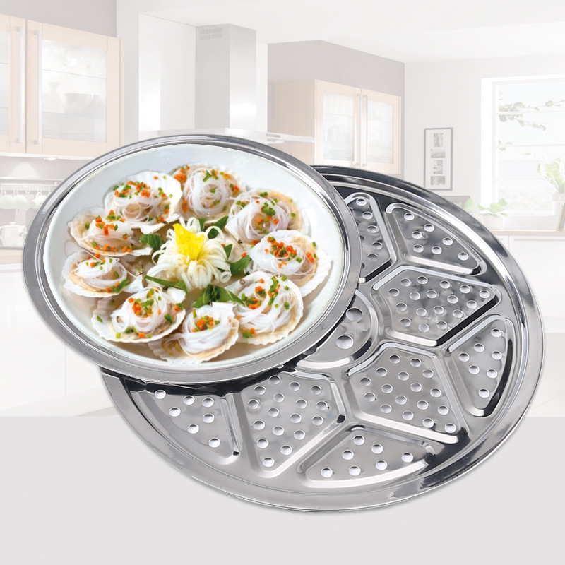 Kitchen Circle Cooker Steaming Rack 24cm Thick Multi-functional Steamed Bread Steaming Rack Household Stainless Steel Zheng Pian