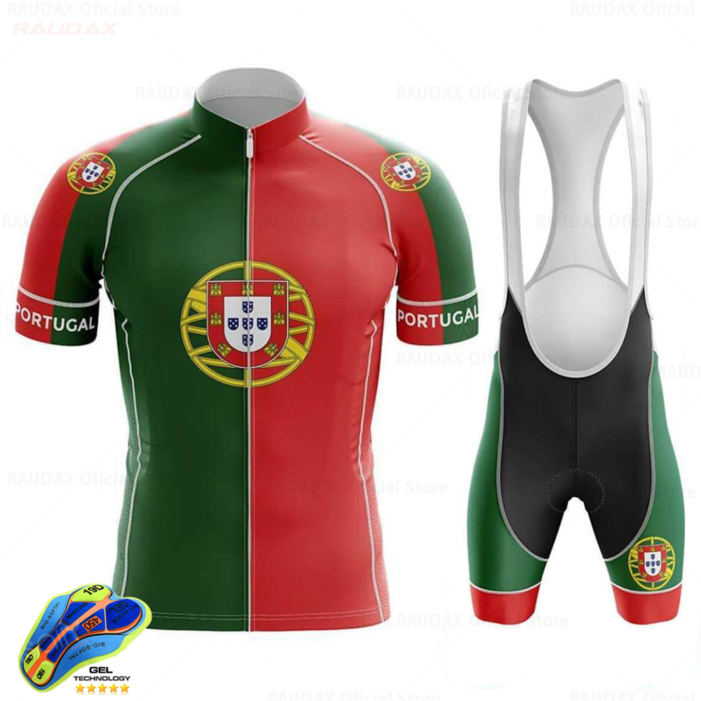 Cycling Clothing 2020 Portugal Men's Cycling Jersey Set MTB Bicycle Clothing <font><b>Bike</b></font> <font><b>Wear</b></font> Clothes Maillot Ropa Ciclismo Triathlon image
