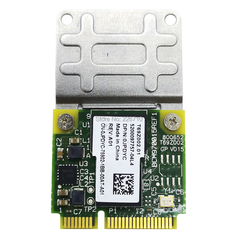 0JPDYC Broadcom AW-VD920 BCM970015 70015 Mini PCI-E APPLE TV 1080p Crystal HD Decoder