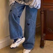 Джинсы женские джинсовые с завышенной талией винтажные брюки
