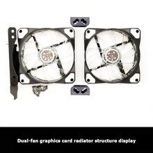 PCI слот двойной вентилятор крепление стойка кронштейн 90 мм 120 мм для рабочего стола графика видео карта ПК компьютер вода охлаждение аксессуары