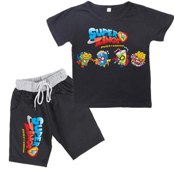 Moda 2020 nowych chłopców Super Zings serii 4 T-shirt + spodenki druku Superzings dzieci dziewczyny garnitur dorywczo zestawy dla dzieci odzież tanie i dobre opinie WGTD WISH Na co dzień Z okrągłym kołnierzykiem Brak children s suit COTTON Modalne Unisex SHORT REGULAR Dobrze pasuje do rozmiaru wybierz swój normalny rozmiar