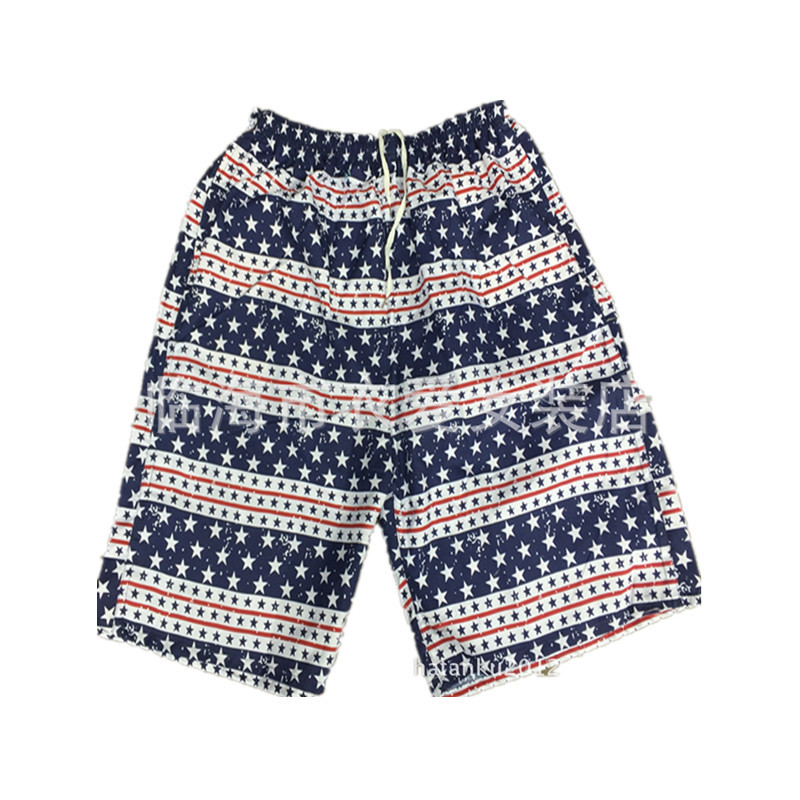 MEN'S Beach Shorts Booth Goods Casual Sports Household Surf Beach Loose-Fit Quick-Dry Large Size