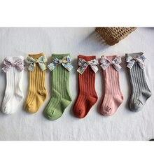 FOCUSNORM-Calcetines de punto con estampado de flores para bebés, para otoño e invierno, de 0 a 5 años, 6 colores