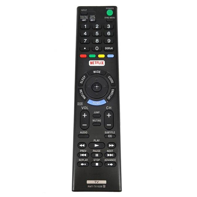 Новый RMT TX102B Замена для SONY NETFLIX светодиодный HDTV пульт дистанционного управления для KDL 32W600D KDL40R557C KDL 48W600D KDL 48W655D