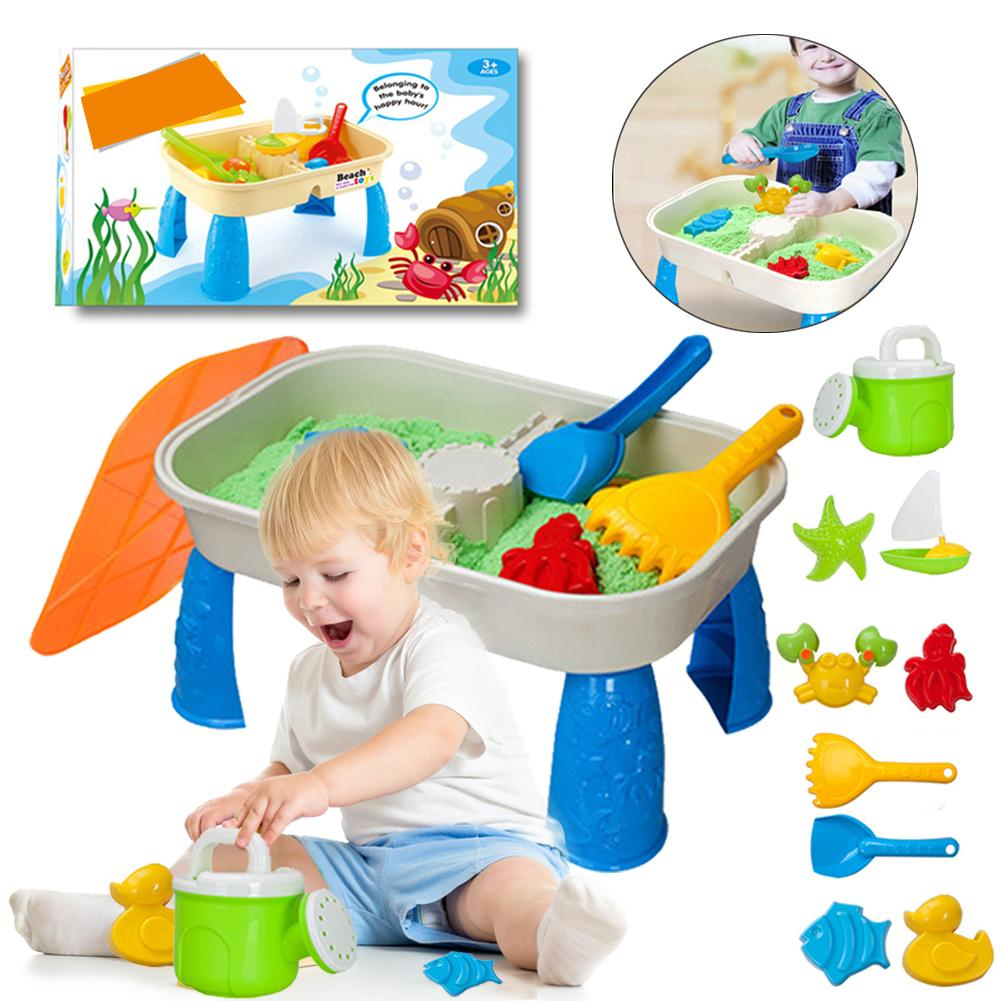 2 In 1 Sand Table Toys Kid Pretend Playing Toys For Outdoor Summer Beach