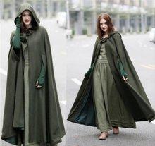 ZOGAA 2020 New Women's Cloaks High Quality Solid Vintage Thick Hood Floor-Length Medieval Long Cape Hoods Overcoats Long Cloak