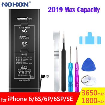 NOHON 2019 Max High Capacity Phone Battery For iPhone 6 6G 6S 6GS Plus SE Replacement iPhoneSE iPhone6 Mobile Bateria Batarya