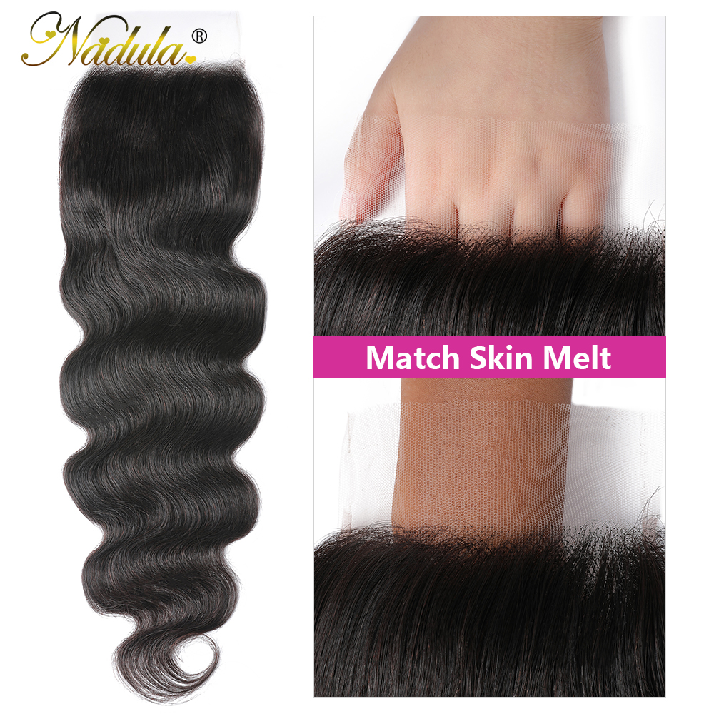Nadula Hair 5x5 HD Lace Closure  Body Wave Hair Lace Closure 12-20INCH  Closure Pre plucked Swiss Lace 3