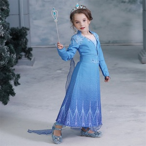 Girl Elsa Dress Halloween Costumes For Kids Cosplay Dresses Princess Carnival Party Wear Christmas Baby Clothes Chidren Clothing(China)