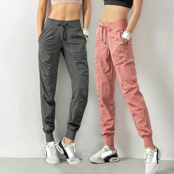 Modne spodnie dresowe damskie treningowe spodnie do ćwiczeń kobieta kobiece spodnie do ćwiczeń damskie spodnie do biegania damskie ubrania damskie odzież damska tanie i dobre opinie CN (pochodzenie) WOMEN Szybkoschnące Dobrze pasuje do rozmiaru wybierz swój normalny rozmiar