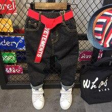 Calça jeans infantil, calça jeans para meninos de 2 7 anos roupas infantis casual e baggy c12056
